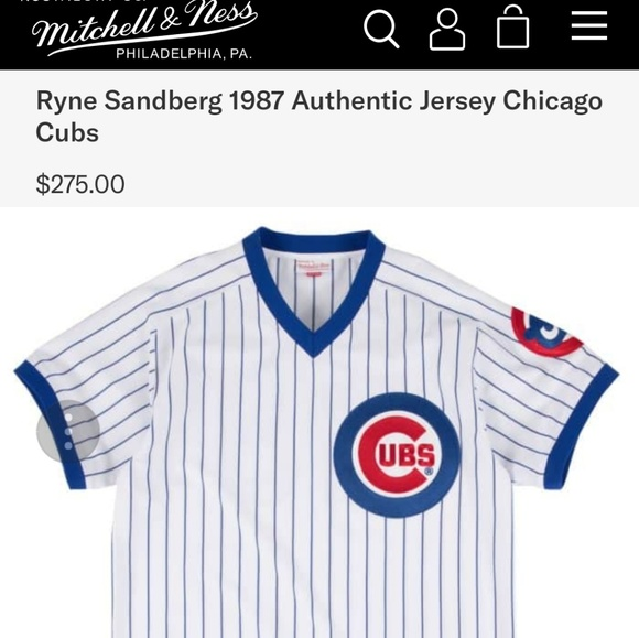 finest selection ad369 3de35 Mitchell & ness authentic 1987 Chicago cubs jersey